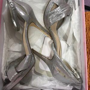 Sliver Nina heels